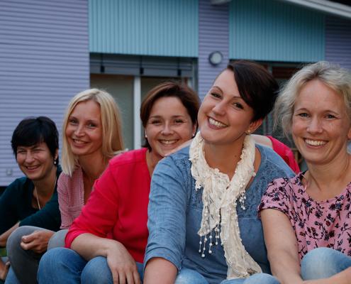Gemeinschaftsbild der Praxis-am-Lebensraum Mitarbeiterinnen